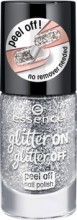 Lac de unghii Essence glitter on glitter off peel off nail polish 01