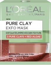 Masca exfolianta pentru netezirea tenului L'Oreal Paris Pure Clay cu extract de alga rosie 50 ml