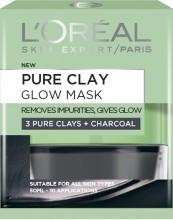Masca revitalizanta pentru iluminarea tenului L'Oreal Paris Pure Clay cu extract de carbune 50 ml