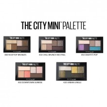 Maybelline New York The City Mini Palette Paleta de farduri - 6g, 400 Rooftop Bronzes