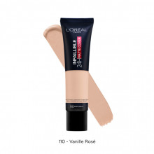 L'Oreal Paris Infaillible 24H Matte Cover fond de ten matifiant 110, Rose Vanilla, 30ml