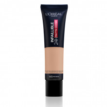 L'Oreal Paris Infaillible 24H Matte Cover fond de ten matifiant 145, Rose Beige, 30ml