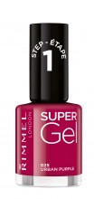 Lac de unghii Rimmel Super Gel , 025 Urban Purple