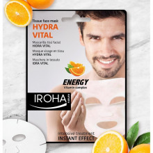 Masca energizanta Iroha Tissue Face Mask Hydra Vital Energy Vitamin Complex for Man