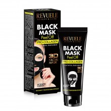 "Masca ""peel off""cu acid hyaluronic Revuele black mask peel off hyaluron 80ml"