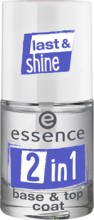 Baza si top pentru lac de unghii Essence 2in1 base & top coat