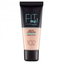 Fond de ten matifiant Maybelline New York Fit Me Matte & Poreless 102 Fair Ivory 30ml