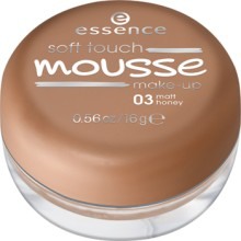 Fond de ten spuma Essence  soft touch mousse make-up 03 Matt Honey 16gr