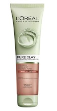 Gel de curatare exfoliant pentru fata L'Oreal Paris Pure Clay 150 ml