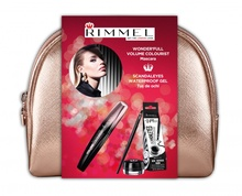 Mascara Rimmel Colourist + Scandal'Eyes Gel Liner Black 001