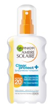 Spray transparent Clear Protect Garnier Ambre Solaire SPF 20 - 200ml