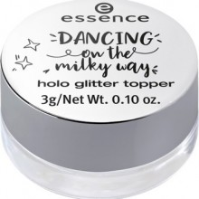 Topper stralucitor pentru machiaj Essence dancing on the milky way holo glitter topper 01