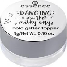 Topper stralucitor pentru machiaj Essence dancing on the milky way holo glitter topper 01