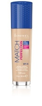 Fond de ten Rimmel Match Perfection, 100 Ivory