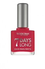 "Lac de unghii Deborah ""7 Days Long"" 870 Coral red, 11 ml"