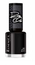 Lac de unghii Rimmel 60 Seconds 900 Rita's Black 8ml
