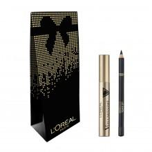 Pachet promo L`Oreal Paris Mascara Volumissime + Eyeliner Le Khol 101 Midnight Black