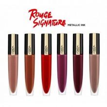 Ruj lichid mat metalizat L'Oreal Paris Rouge Signature Metallics 201 Stupefy 7 ml