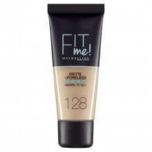 Fond de ten matifiant Maybelline New York Fit Me Matte & Poreless 128 Warm Nude 30ml