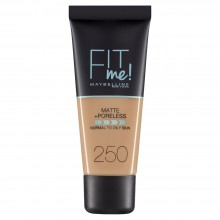 Fond de ten matifiant Maybelline New York Fit Me Matte & Poreless 250 Sun Beige - 30ml
