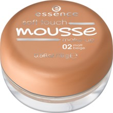 Fond de ten spuma Essence  soft touch mousse make-up 02 Matt Beige 16gr