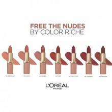 L'Oreal Paris Ruj ultra-mat, ultra-confortabil Color Riche Free The Nudes 09 NO JUDGMENT