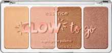 Paleta iluminatoare Essence  Glow to go highlighter palette Sunkissed Glow 14gr