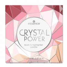 Paleta pentru fata Essence CRYSTAL POWER BLUSH & HIGHLIGHTER PALETTE