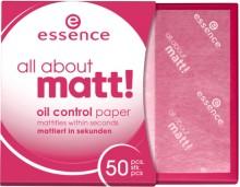 Hartie matifianta Essence all about matt! oil control paper