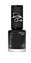 Lac de unghii Rimmel 60 Seconds 906 Matte Black 8ml
