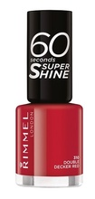 Lac de unghii Rimmel 60 Seconds Shine, 310 Double Decker red