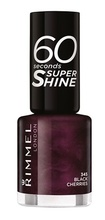 Lac de unghii Rimmel 60 Seconds Shine, 345 Black Cherries