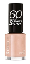 Lac de unghii Rimmel 60 Seconds Shine, 500 Caramel Cupcake