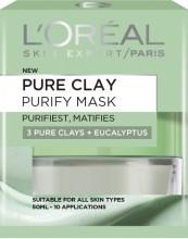 Masca purifianta pentru matifierea tenului L'Oreal Paris Pure Clay cu eucalipt 50ml