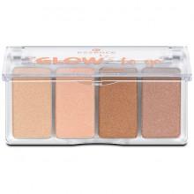 Paleta iluminatoare Essence  Glow to go highlighter palette Sunkissed Glow 14gr