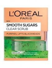 Scrub exfoliant cu zahar pentru ten cu puncte negre L'Oreal Paris Smooth Sugars 50 ml