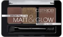 Trusa farduri pentru sprancene Catrice Brow Palette Matt & Glow 020 Hot Chocoholic