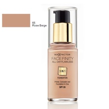 Fond de ten Max Factor All Day Flawless 3 in 1 65 Rose Beige