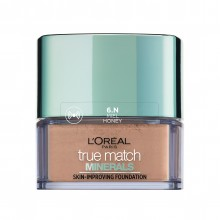 Fond de ten mineral L'Oreal Paris True Match Minerals cu acoperire lejera 6N Honey 10g