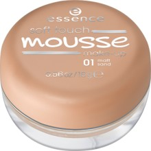 Fond de ten spuma Essence soft touch mousse make-up 01 Matt Sand 16gr