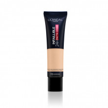 L'Oreal Paris Infaillible 24H Matte Cover fond de ten matifiant 115, Golden Beige, 30ml