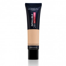 L'Oreal Paris Infaillible 24H Matte Cover fond de ten matifiant 200, Golden Sand, 30ml