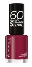 Lac de unghii Rimmel 60 Seconds Shine, 340 Berries and Cream
