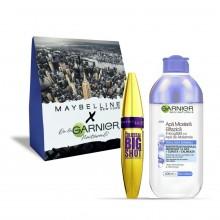 Pachet promo Garnier Skin Naturals Apa Micelara Bifazica cu Apa de albastrele + Maybelline Mascara Big Shot volum colosal