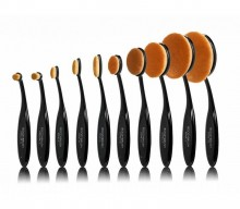 Set pensule Boozy Cosmetics 10 pc Black Oval