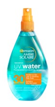 Spray bifazic transparent pentru protecție solară SPF 30 Ambre Solaire UV Water 150ml