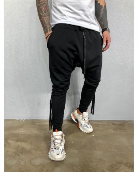 Pantaloni Barbati Slim Fit Cu Fermoare Laterale Si Semitur