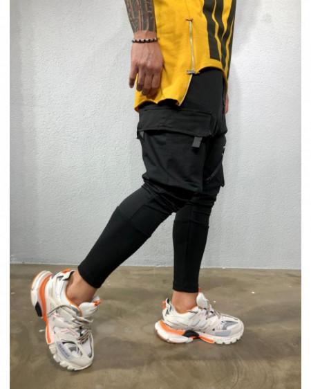 Pantaloni Cargo Barbati Slim Fit Cu Buzunare Aplicate