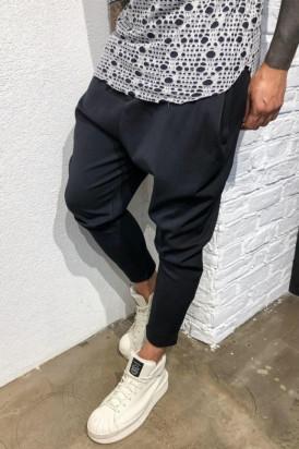 Pantaloni Casual Barbati Cu Snur Stil Jogger