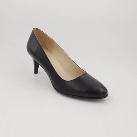 Pantofi dama, SandAli, piele naturala, toc cui, negru